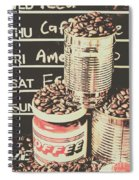 Tin Signs And Coffee Shops Spiral Notebook