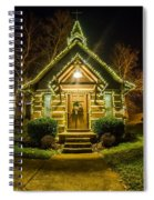 Tiny Chapel With Lighting At Night Spiral Notebook