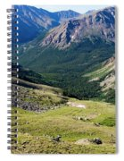 Tiny Hikers On The Mount Massive Summit Spiral Notebook