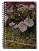 Tiny Mushrooms  Spiral Notebook