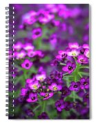Tiny Purple Flowers Spiral Notebook