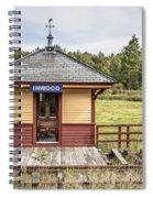 Tiny Train Station Barnet Vermont Spiral Notebook