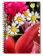 Tiny White Flowers Spiral Notebook