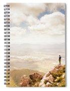 Tip Of Mt Zeehan Tasmania  Spiral Notebook
