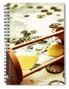 Tipping The Time Map Spiral Notebook