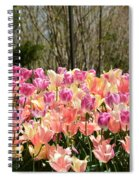Tiptoe Among The Tulips Spiral Notebook