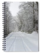 Tire Tracks In Fresh Snow Spiral Notebook