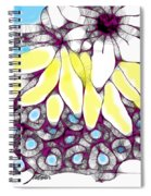 Tired Turtle With Bananas And Blooms Spiral Notebook