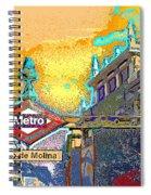 Tirso De Molina Metro Entrance Madrid Spiral Notebook