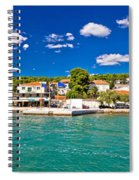 Tisno Panoramic View From Murter Island Spiral Notebook