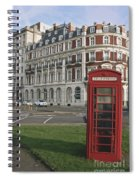 Titanic Hotel And Red Phone Box Spiral Notebook
