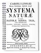 Title Page, Systema Naturae, Carl Spiral Notebook