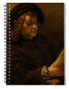 Titus Van Rijn, The Artist's Son, Reading Spiral Notebook