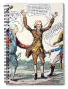 T.jefferson Cartoon, 1809 Spiral Notebook