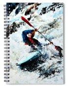 To Conquer White Water Spiral Notebook