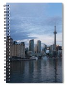T O Harbour In Blue Spiral Notebook
