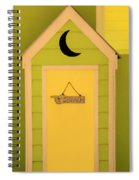To The Beach - Decorative Outhouse And Sign Spiral Notebook
