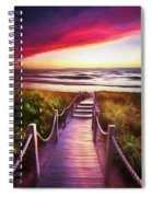 To The Beach Early Morning Watercolor Painting Spiral Notebook