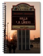 To The Bulls Game Spiral Notebook