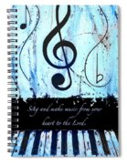 To The Lord - Blue Spiral Notebook