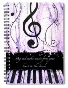 To The Lord - Purple Spiral Notebook
