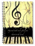 To The Lord - Yellow Spiral Notebook