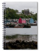 Tobermory Town Cityscape, Isle Of Mull Spiral Notebook