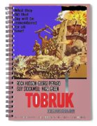 Tobruk Theatrical Poster 1967 Color Added 2016 Spiral Notebook