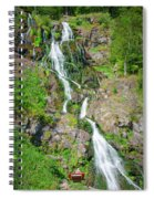 Todtnau Waterfall, Black Forest, Germany Spiral Notebook