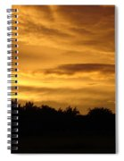 Toffee Sunset Spiral Notebook