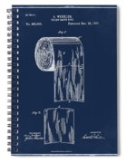 Toilet Paper Roll Patent 1891 Blue Spiral Notebook