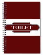 Toilet Station Name Sign Spiral Notebook