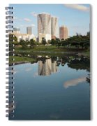 Tokyo Buildings And Garden Pond Spiral Notebook