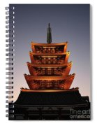 Tokyo Temple Lights At Dusk Spiral Notebook