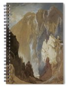 Toltec Gorge And Eva Cliff From The West, Colorado, 1892 Spiral Notebook