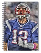 Tom Brady Art 5 Spiral Notebook