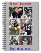 Tom Brady Football Goat Spiral Notebook