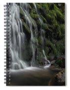 Tom Gill Waterfall, Cumbria, England Spiral Notebook