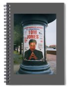 A Rare Collectible Poster Of Tom Jones In Russia Spiral Notebook