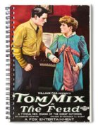Tom Mix In The Feud 1919 Spiral Notebook