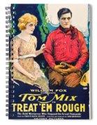 Tom Mix In Treat'em Rough 1919 Spiral Notebook