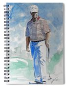Tom Watson In Dubai Spiral Notebook