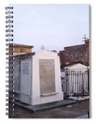 Tombs In St. Louis Cemetery Spiral Notebook