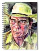 Tommy Lee Jones Portrait Watercolor Spiral Notebook