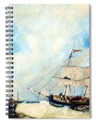 Too Close To Shore Spiral Notebook