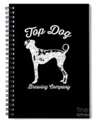 Top Dog Brewing Company Tee White Ink Spiral Notebook