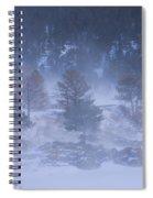 Top Of Boulder Canyon Winter Snow Spiral Notebook