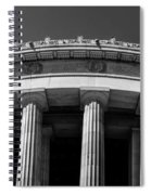 Top Portion Of A Lincoln Memorial Old Greek Architecture Spiral Notebook