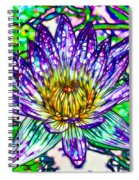 Top View Of A Beautiful Purple Lotus Spiral Notebook