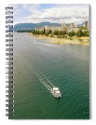Top View Of English Bay In Summer, Vancouver Bc. Spiral Notebook